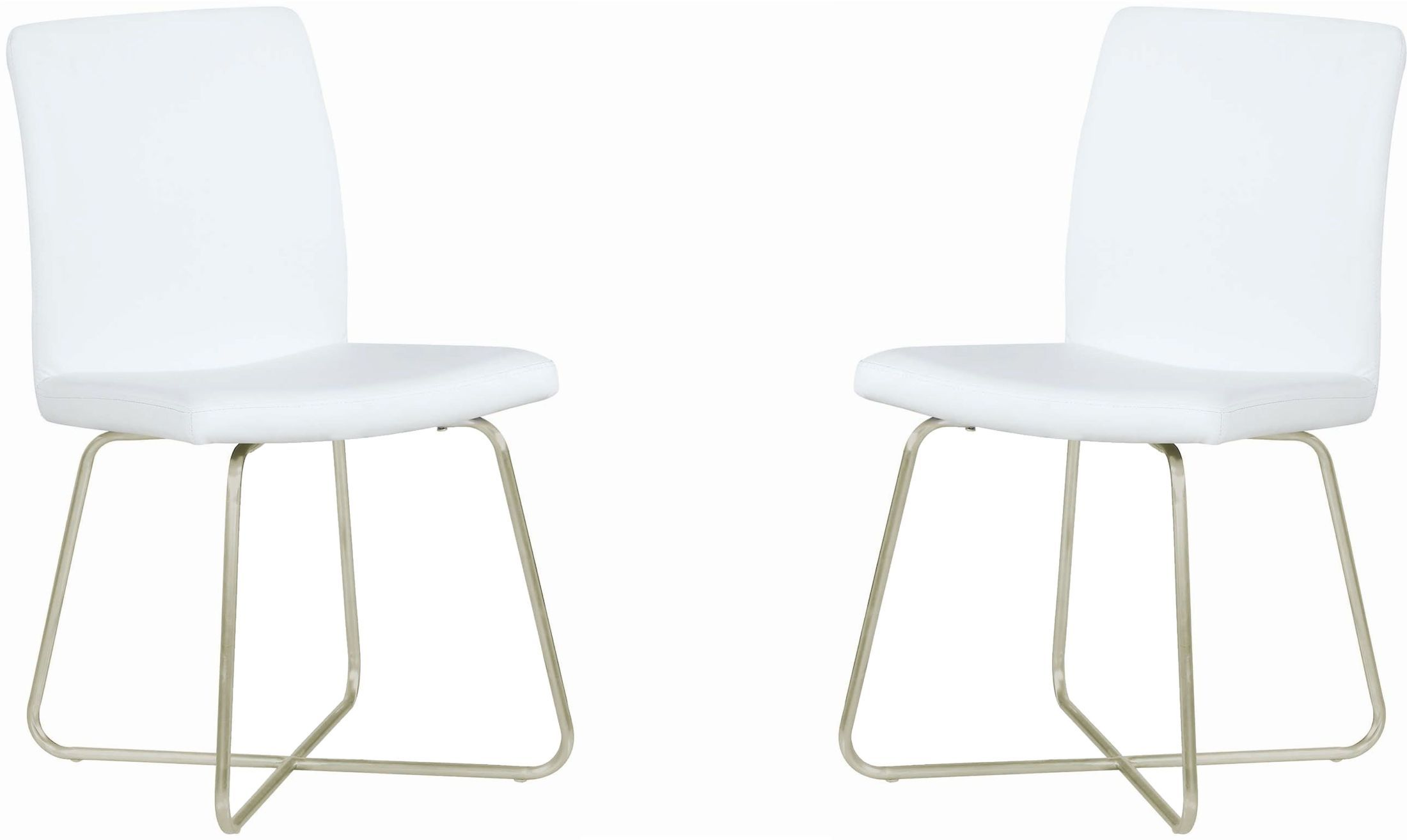 Stühle Stuhl Sind ModernIn Weiß Metall Leder Esszimmer ARjL534