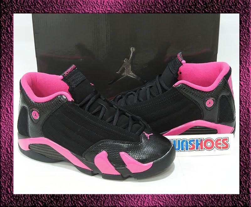 watch a327f 0fd24 Jordan 14 Shoes   Nike Girls Air Jordan 14 XIV GS Black Desert Pink US 3 5  7Y 13 12 11
