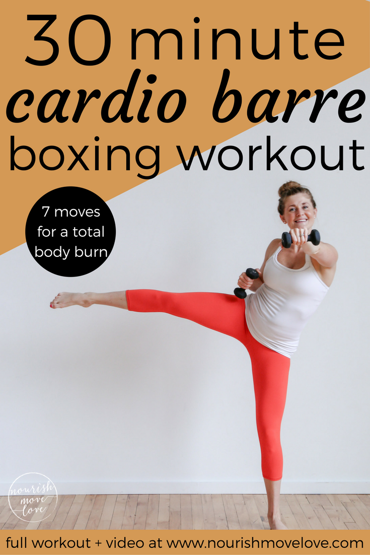 30-Minute Cardio Barre Boxing Workout #cardiobarre