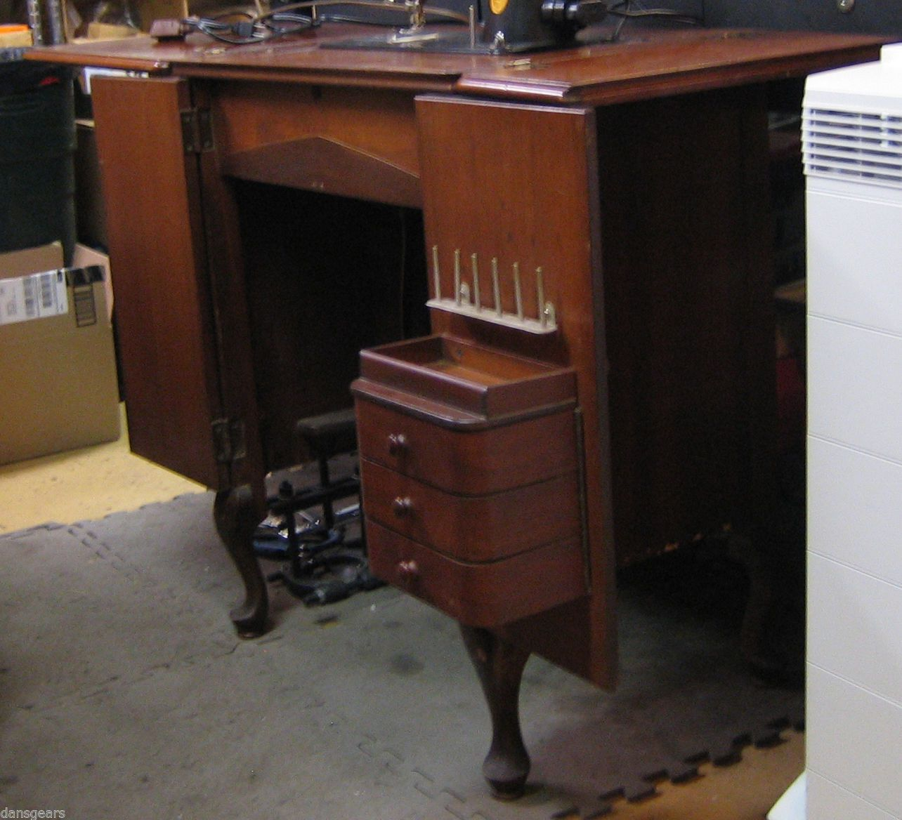 RARE Singer Cabinet No 48 for 201 2 Sewing Machine Fits Full Size ...
