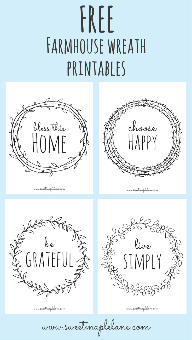 Farmhouse Wreath Printables Cricut Cutting Pinterest Cricut