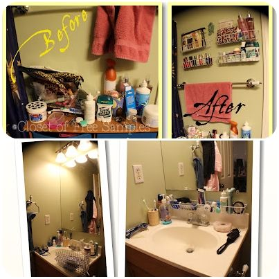 How To: Organize Small Bathroom Space