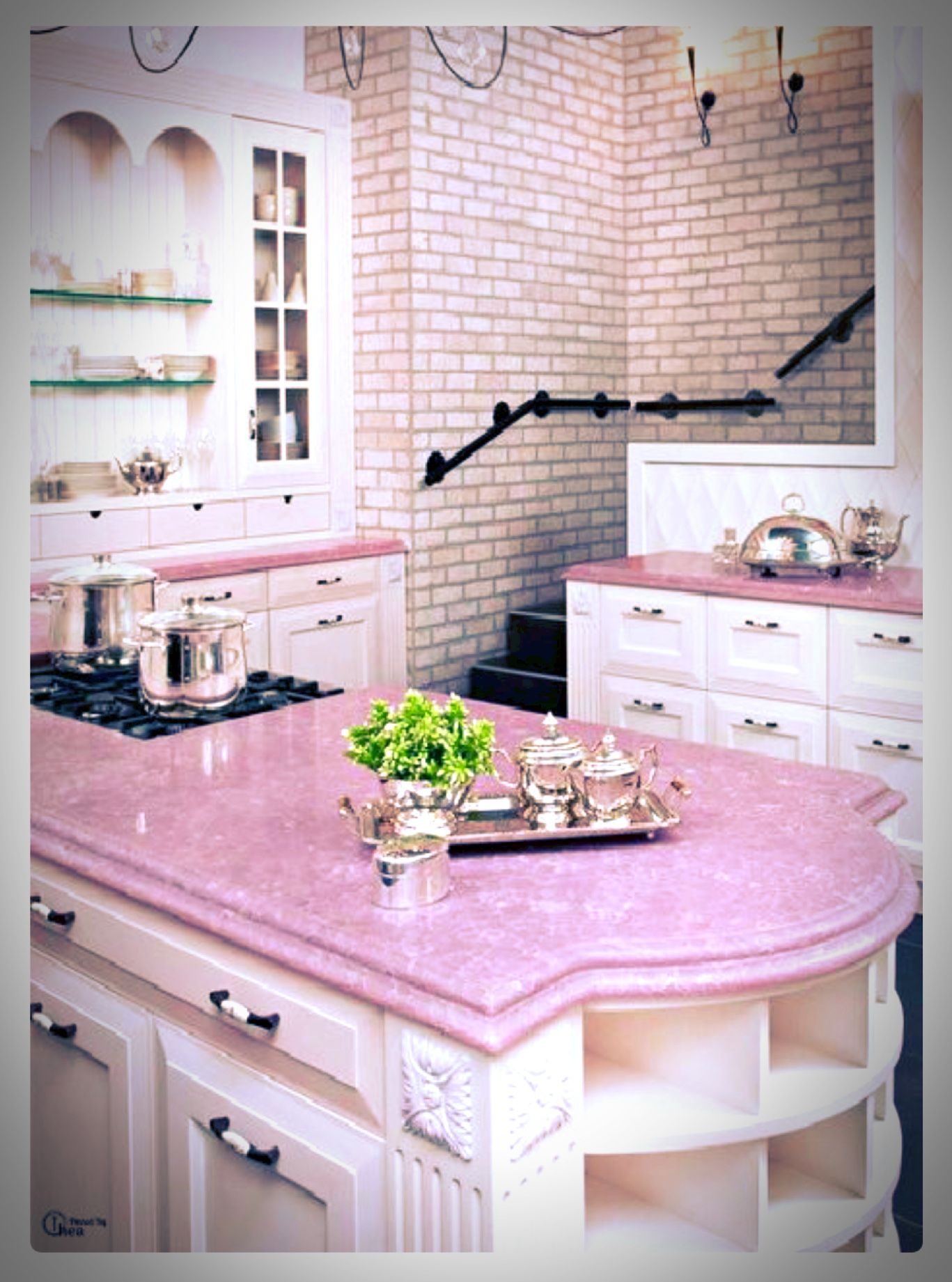 Pink Kitchen Paint Pink Kitchen Done Right Pretty In Pink Pink Room Pink Houses