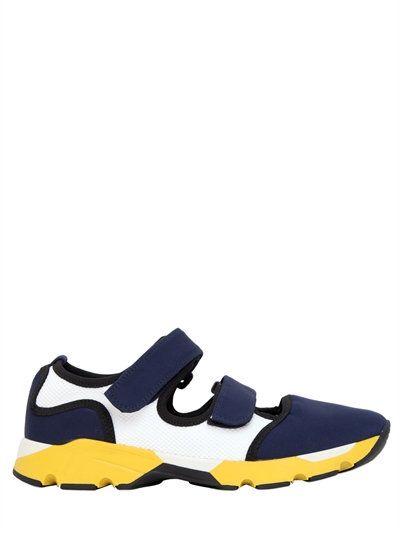 Chaussures De Sport De Découpe Marni - Bleu bTPGxF