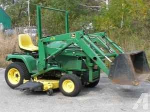 John Deere 20hp Tractor W Loader Mower 5900 Exeter Nh
