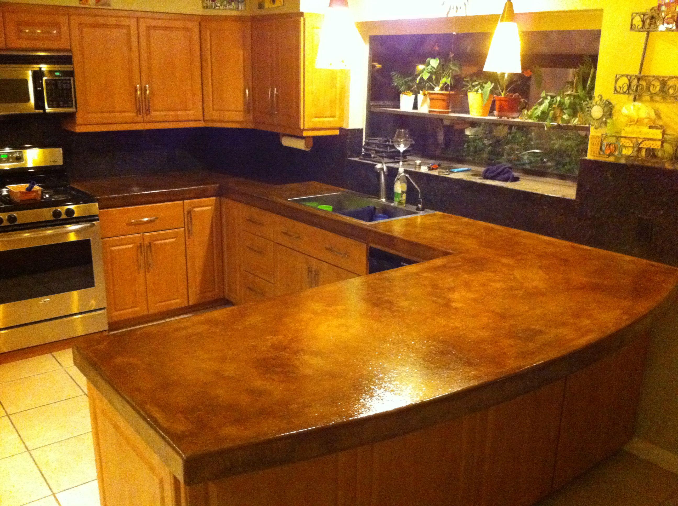 Concrete Counter Tops Google Search Kitchen