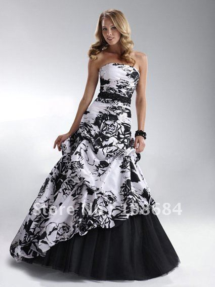 Black Wedding Dresses And White Reference For Decoration