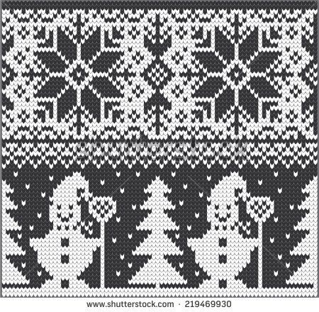 Vector white nordic christmas ornament snowman   Ugly sweater ...