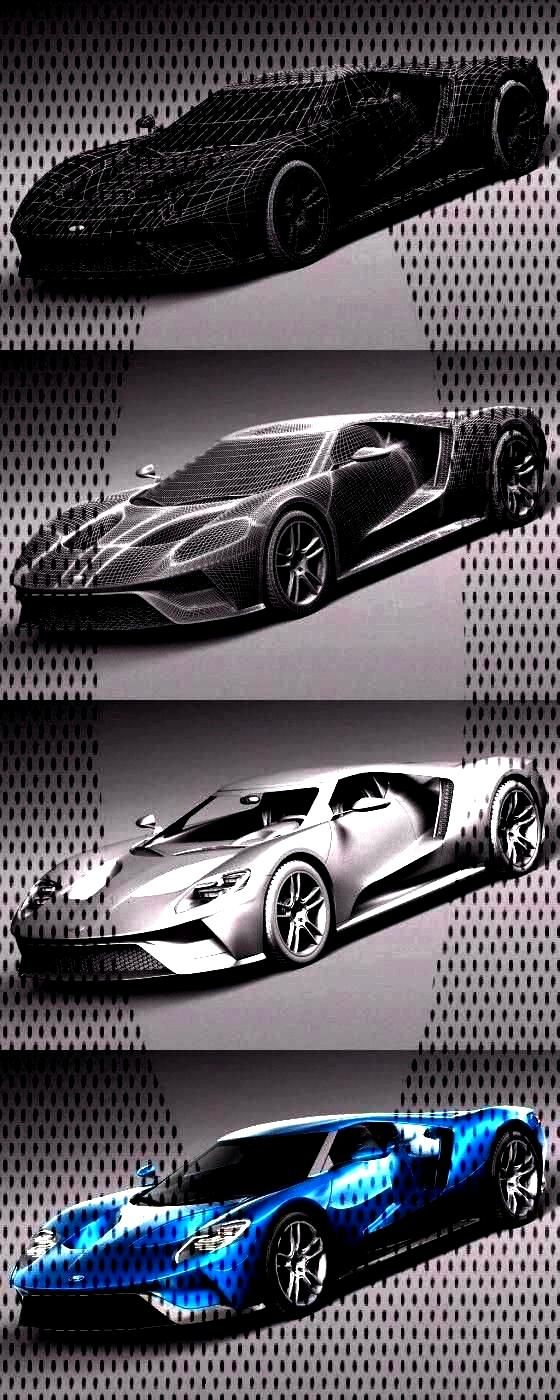 Ford GT official 3D Model - Wireframe and Rendering link:Ford GT official 3D Model - Wireframe and