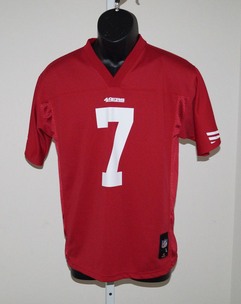 b0d441ba919 NFL Apparel San Franciso 49ers Colin Kaepernick  7 Football Jersey Youth L  14 16  NFL