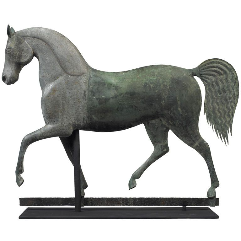 Index Horse Weathervane  19th century  Attributed to J. Howard and Company,  Bridgewater, Massachusetts, ca. 1860-1870.