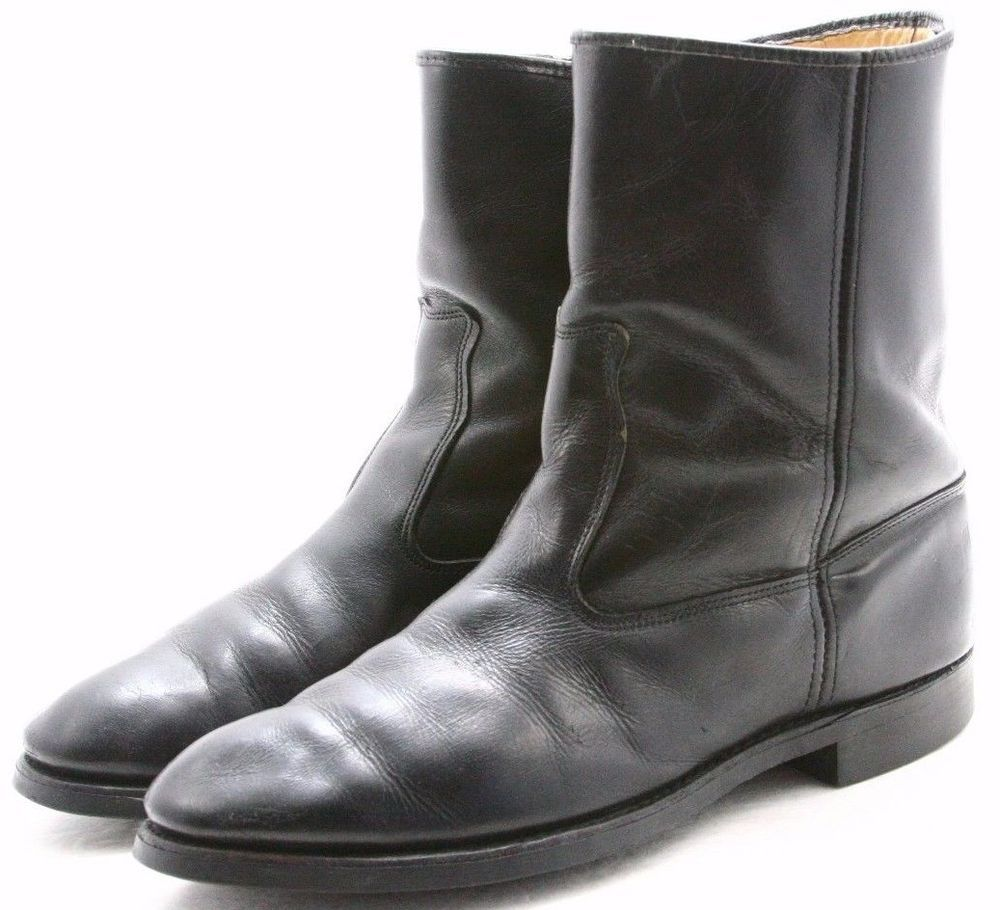 Gold Bond Cushioned Motorcycle Ankle Boots Mens 8.5 Work Biker Engineer Leather  #GoldBond #Motorcycle
