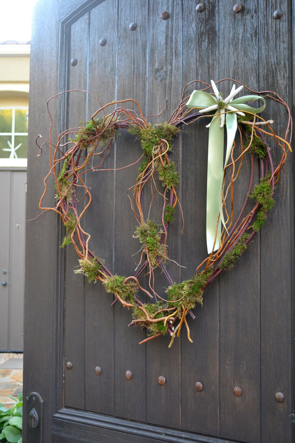 Large Curly Willow Starfish Valentine Wreath By Greenthumbgarage