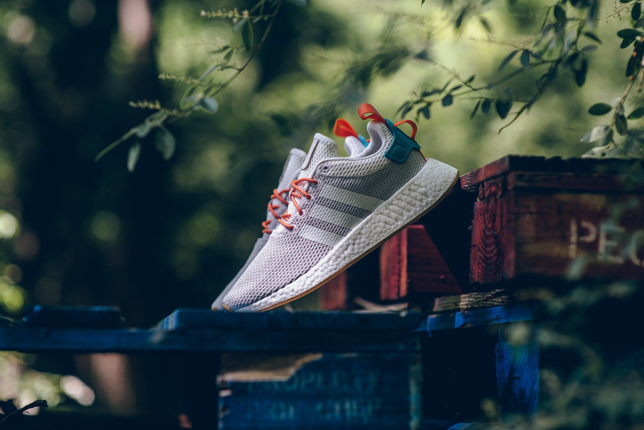 best service 8726d bfa7b adidas NMD R2 Summer in Crystal White, Orange & Green ...