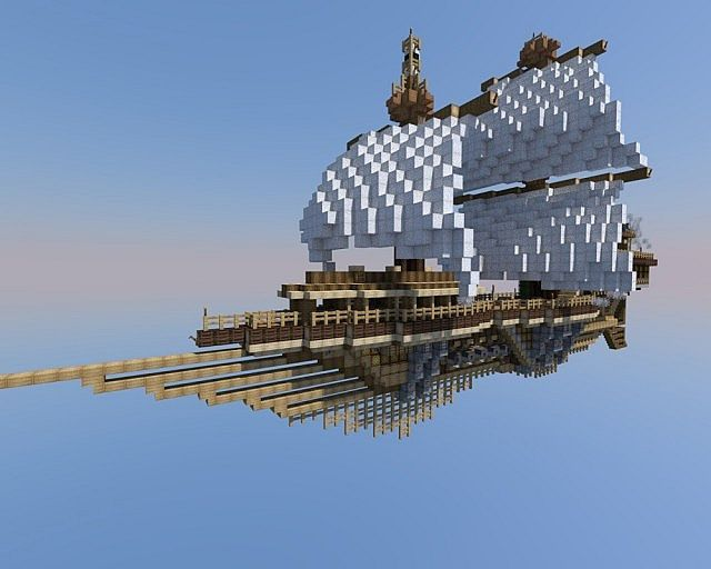 S.S Agilis, A steampunk airship Minecraft Project ...