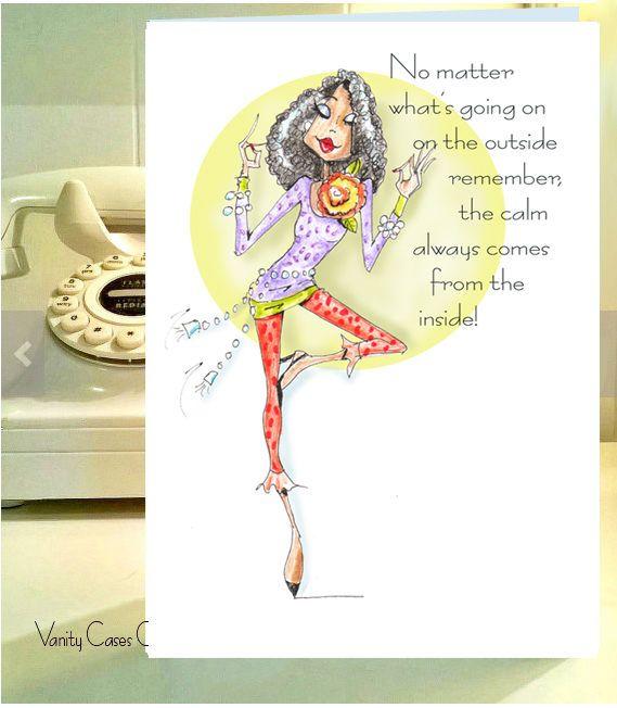 Ohhhhmmmmmmalways Funny Birthday Cards For African American Women Card With Yoga Pose
