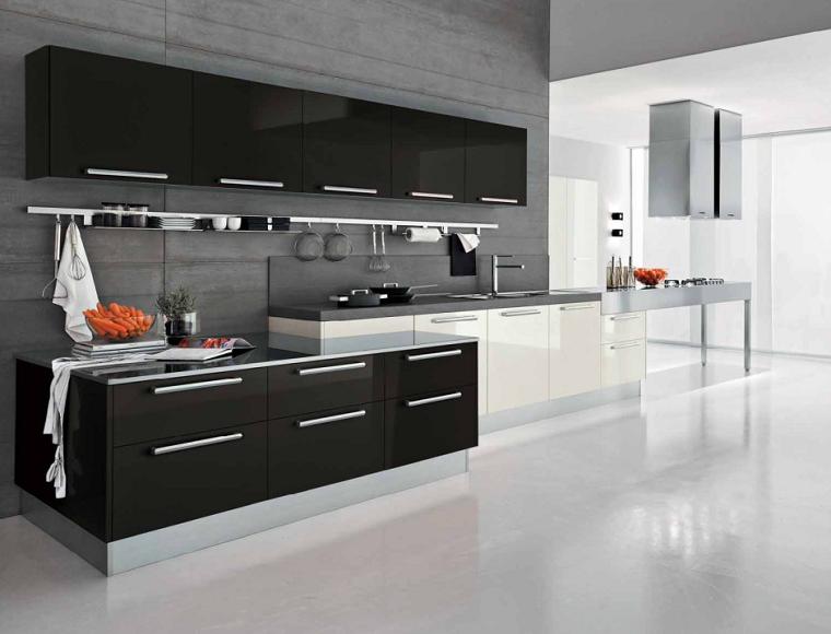 Cocinas blancas y negras - 50 ideas geniales a considerar. | Cocina ...