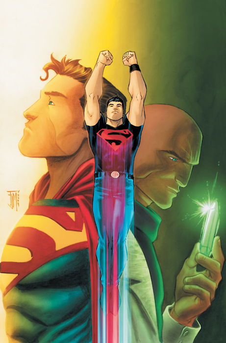 Superboy (Conner Kent, Kon-El) by Francis Manapul - Half-Kryptonian clone of Superman. The other half is human and the DNA belongs to... Lex Luthor.