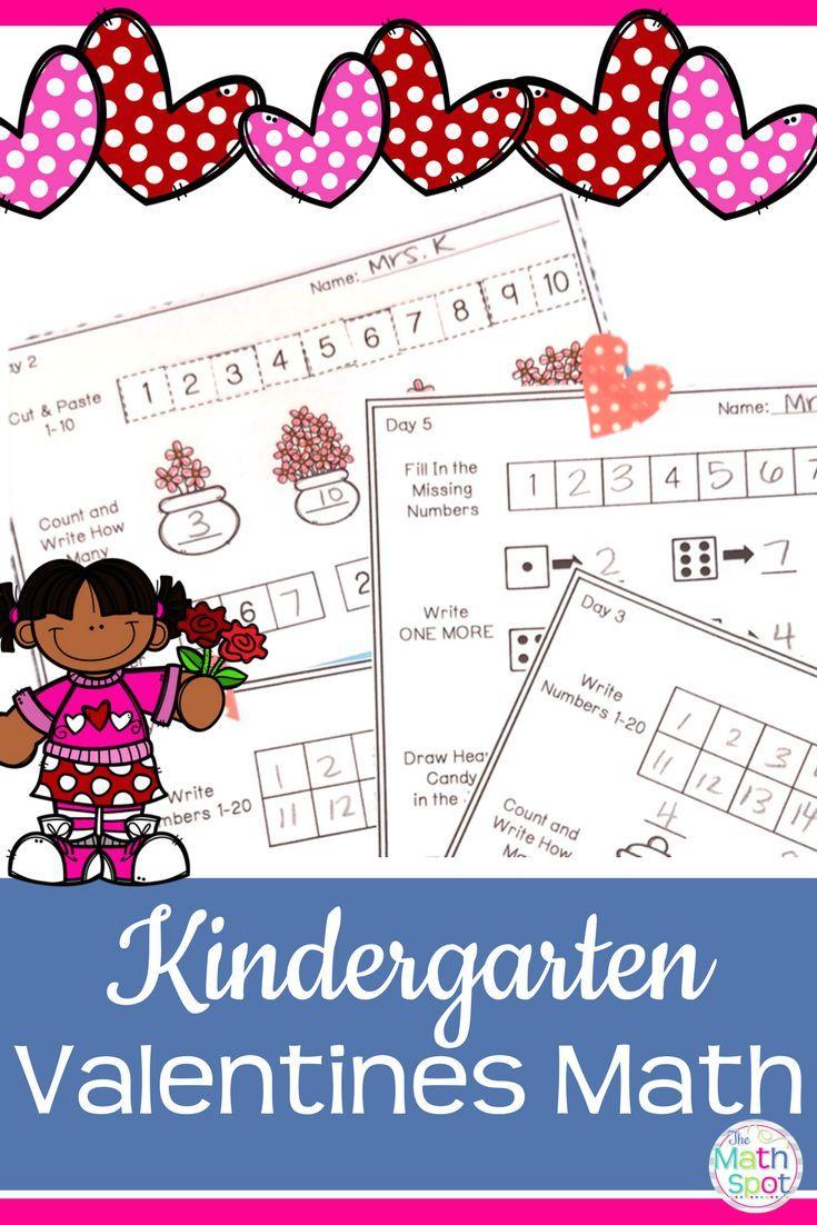 Valentines Day Kindergarten Math Activities Pinterest Center