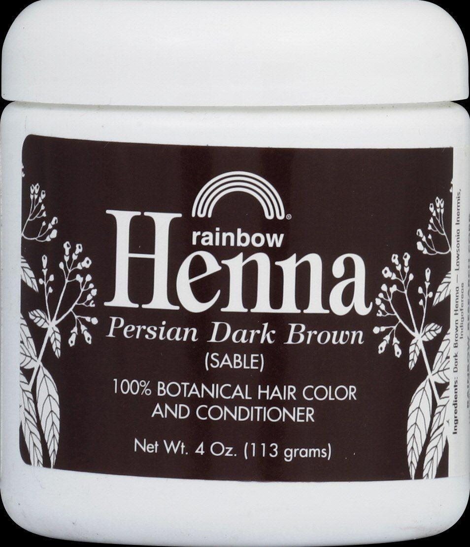 Rainbow Research Persian Dark Brown Henna 4 Ounce 6 Per Case
