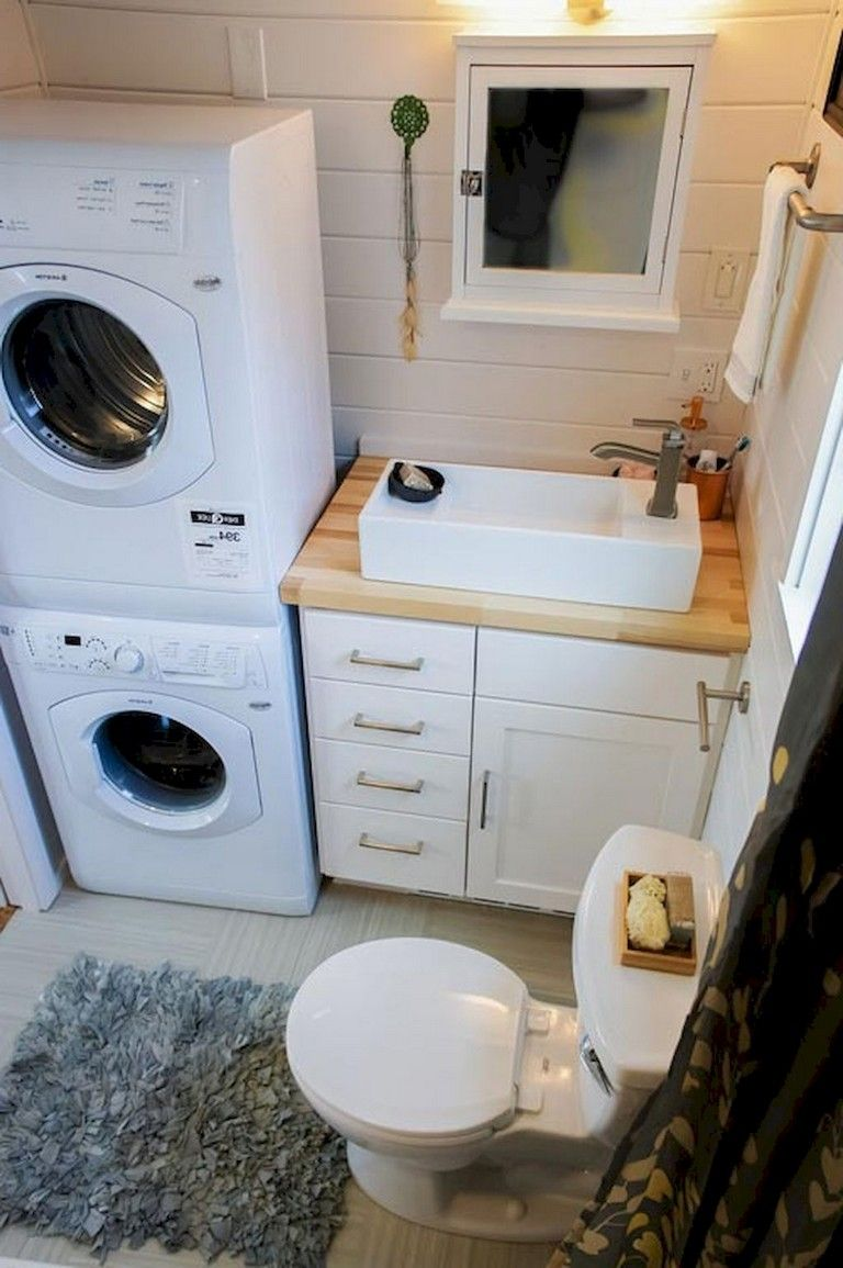 35+ Lovely Tiny House Bathroom Remodel Ideas #tinyhousebathroom