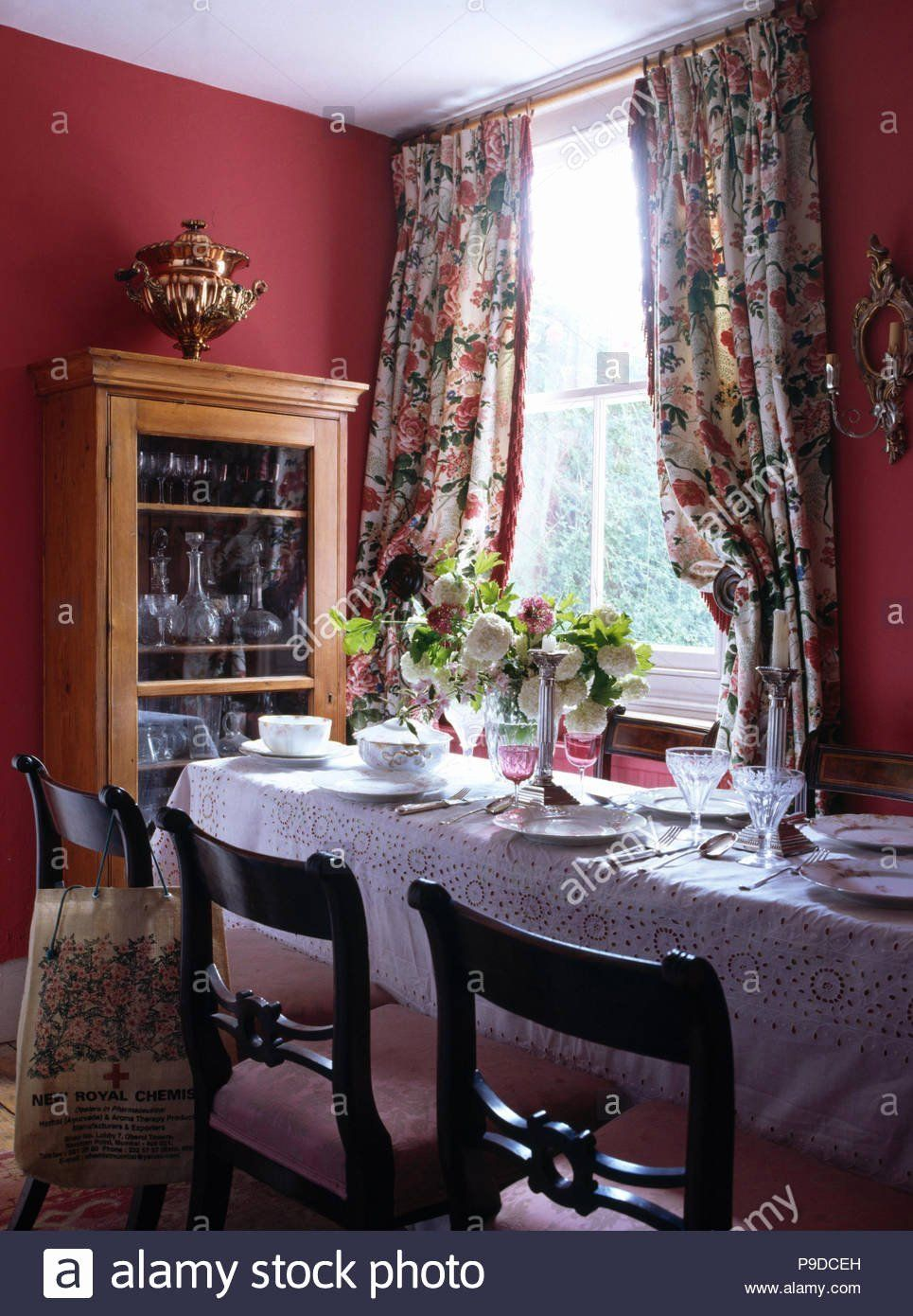 Red Dining Room Curtains Beautiful