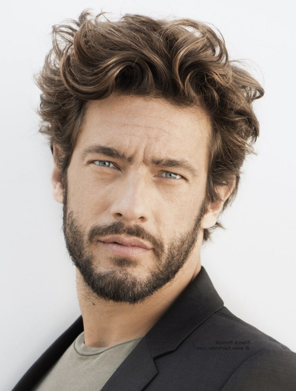 40 Hairstyles For Thick Hair Mens Pinterest Beard Styles Curly