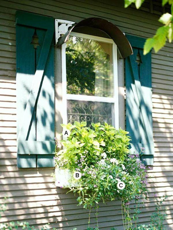 Ideen Für Fenster Blumenkasten - Originelle Vorstellungen (alles ... Blumen Arrangement Im Blumenkasten Ideen