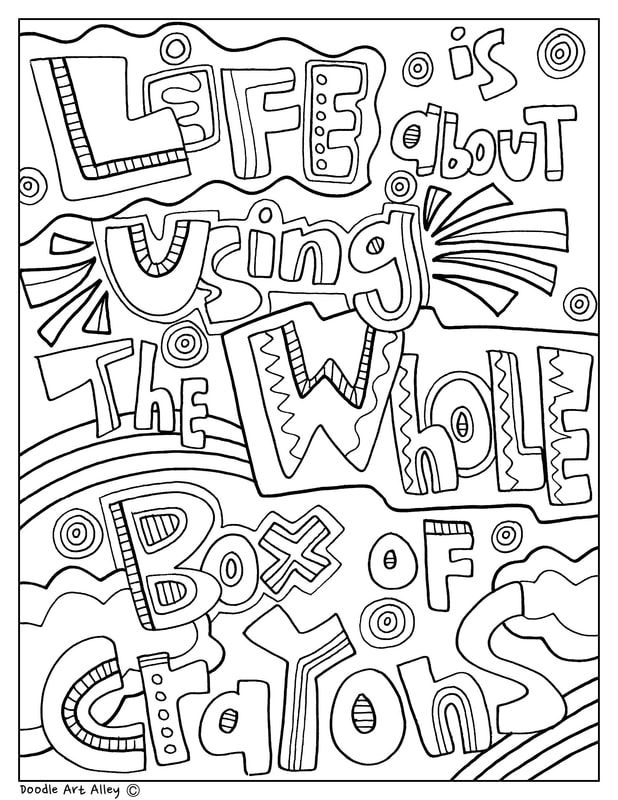- Doodle Art Alley Free Printables; Classroom Printables. Motivational Quotes  Art Quote Coloring Pages, Coloring Pages, Doodle Coloring