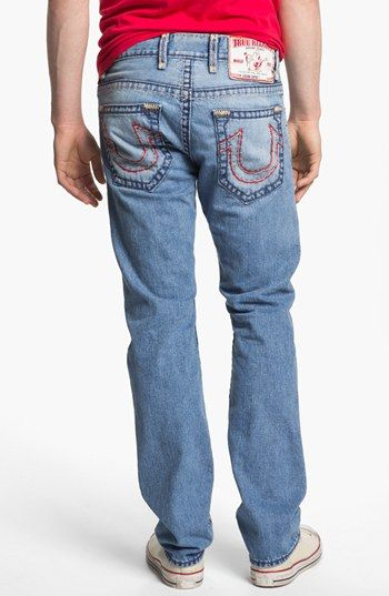 True Religion Brand Jeans 'Logan' Straight Leg Jeans (Sunset Pass) available at #Nordstrom