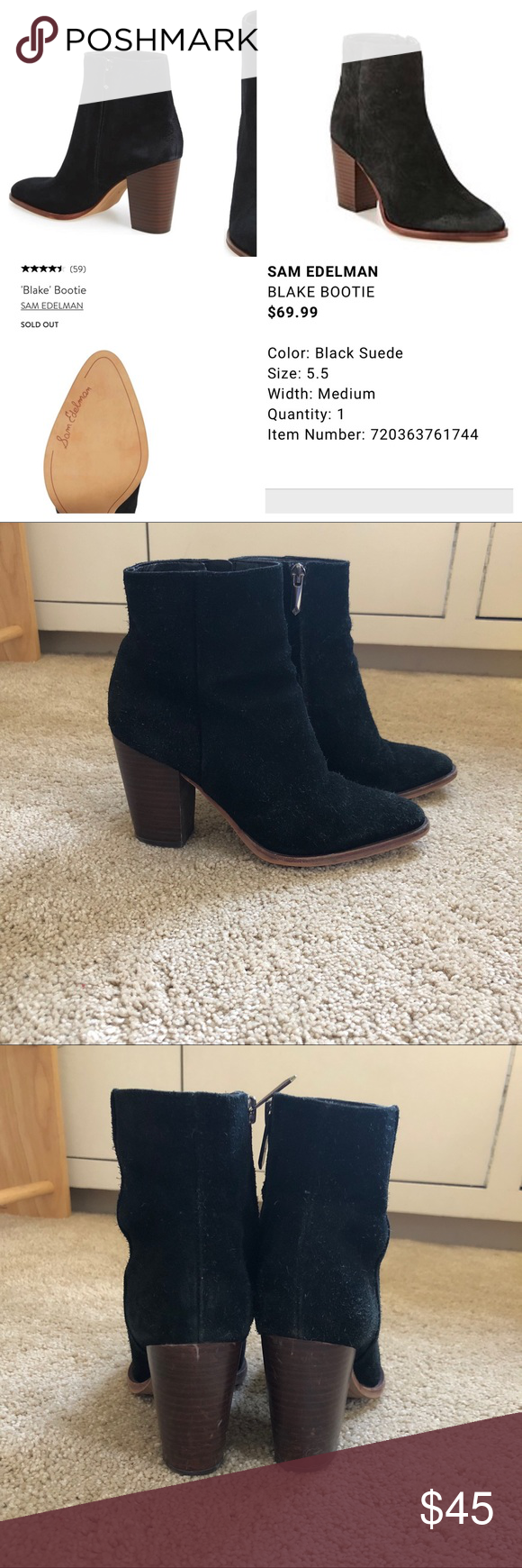 6fc0b08f8eed9 Sam Edelman Blake Booties! RARE FIND. Sold out at Nordstrom s