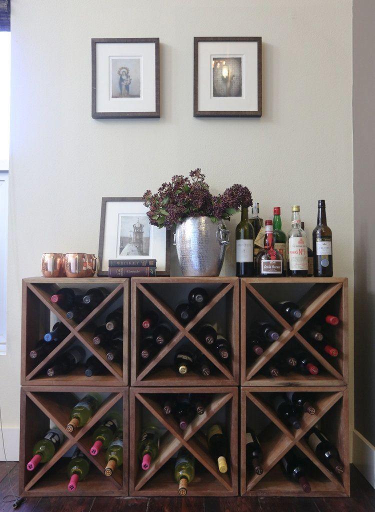 Diy Wine Rack Design, Wine Rack Ideas Living Room