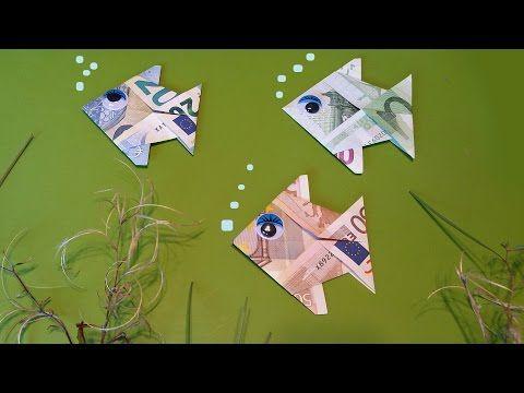 Geldschein Fisch Falten Geldgeschenke Anleitung Origami
