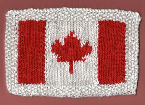 Canadian Flag Dishcloth (Free Pattern) | Knitting - Dishcloths ...