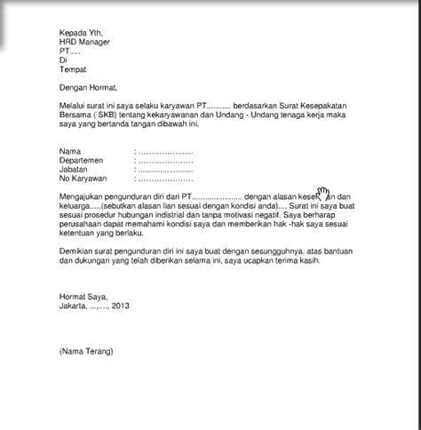 Contoh Surat Pengunduran Diri Yang Benar Dan Baik Contoh Surat