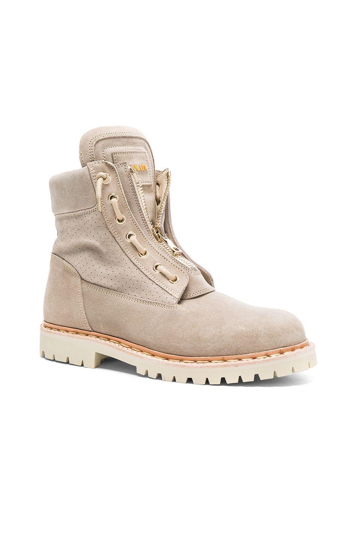 81d496b39 BALMAIN Suede Boots. #balmain #shoes # Balmain Shoes, Balmain Men, Desert