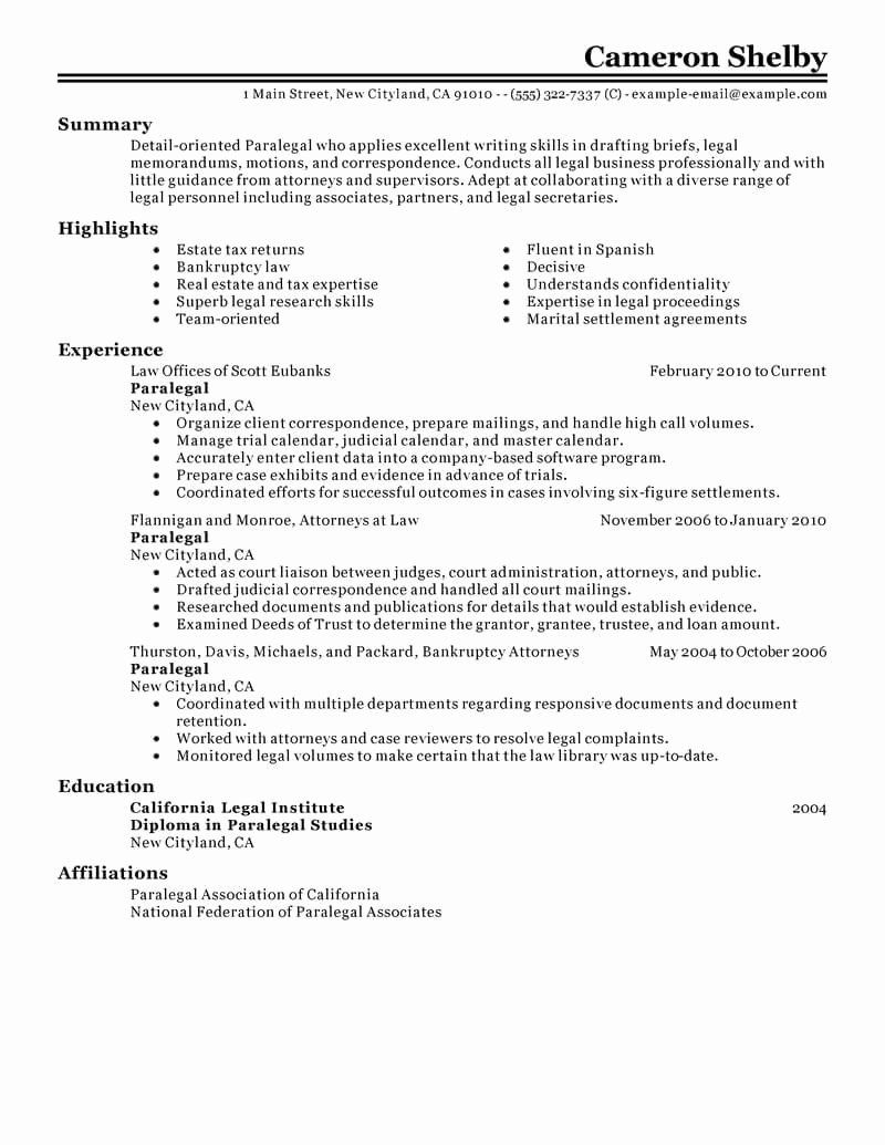 Paralegal Job Description Resume Lovely Best Paralegal Resume