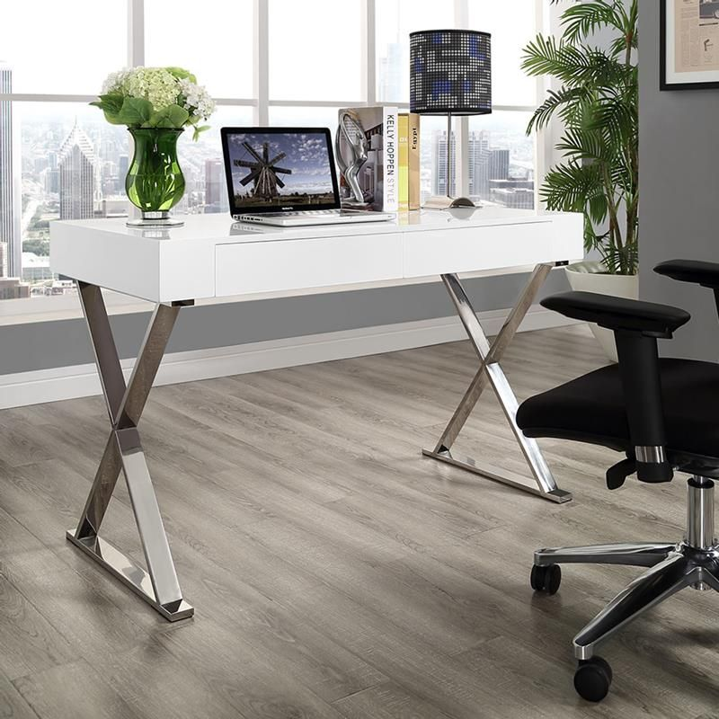 Modern Desks Samuel White Desk Modern White Desk Office Desk Modern Office Desk