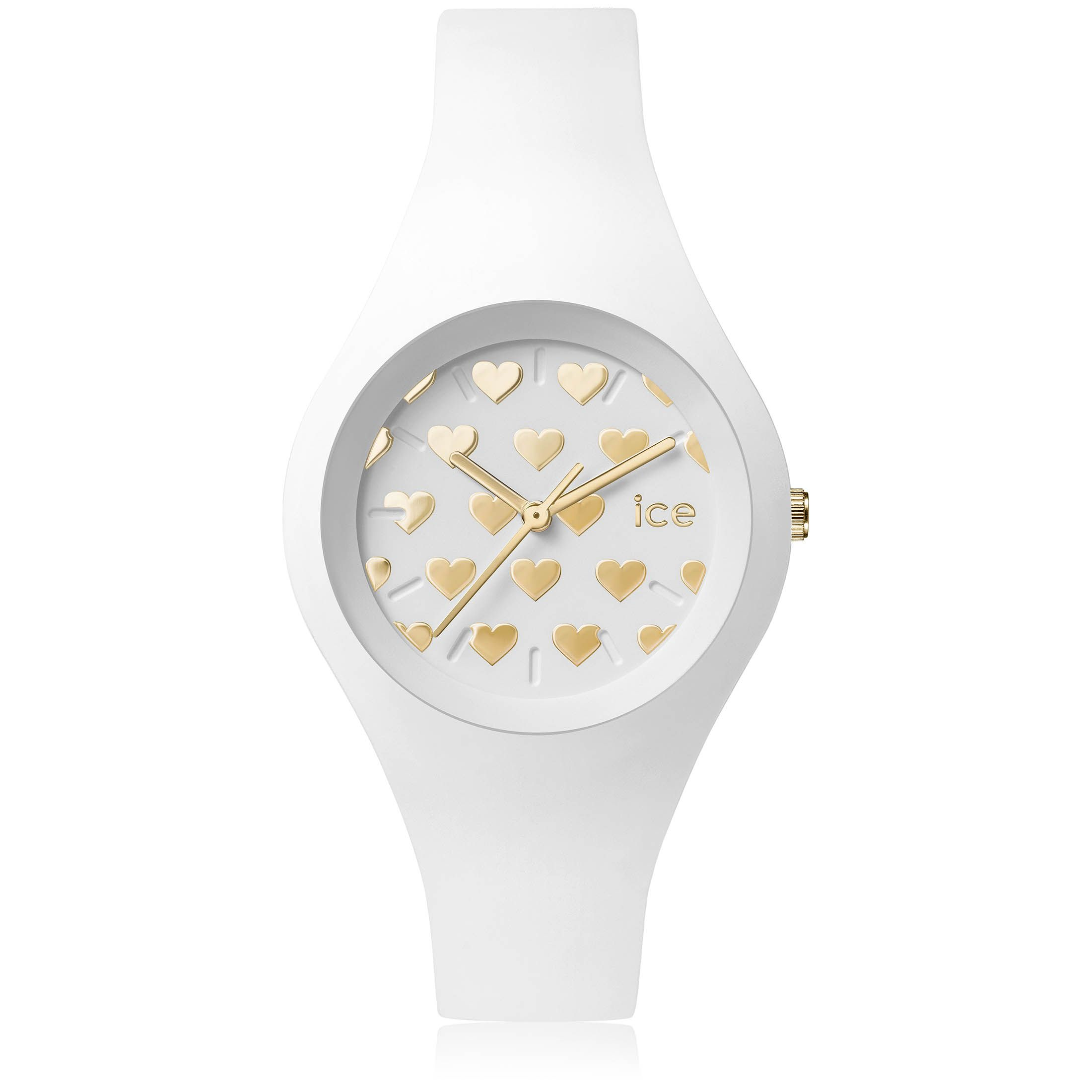 34c98ffe7fe197 Ice Watch Blanche et Dorée Petits coeurs !   Women s Watches in 2019 ...