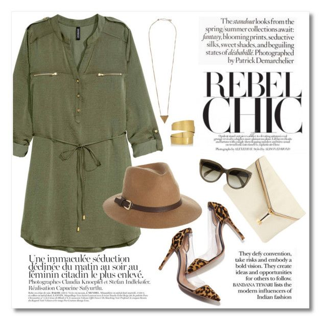 """""""Rebel Chic"""" by galina-gavrailova ❤ liked on Polyvore featuring Gianvito Rossi, Rusty, Pieces, Henri Bendel, Hervé Van Der Straeten, CÉLINE, chic and fashionset"""