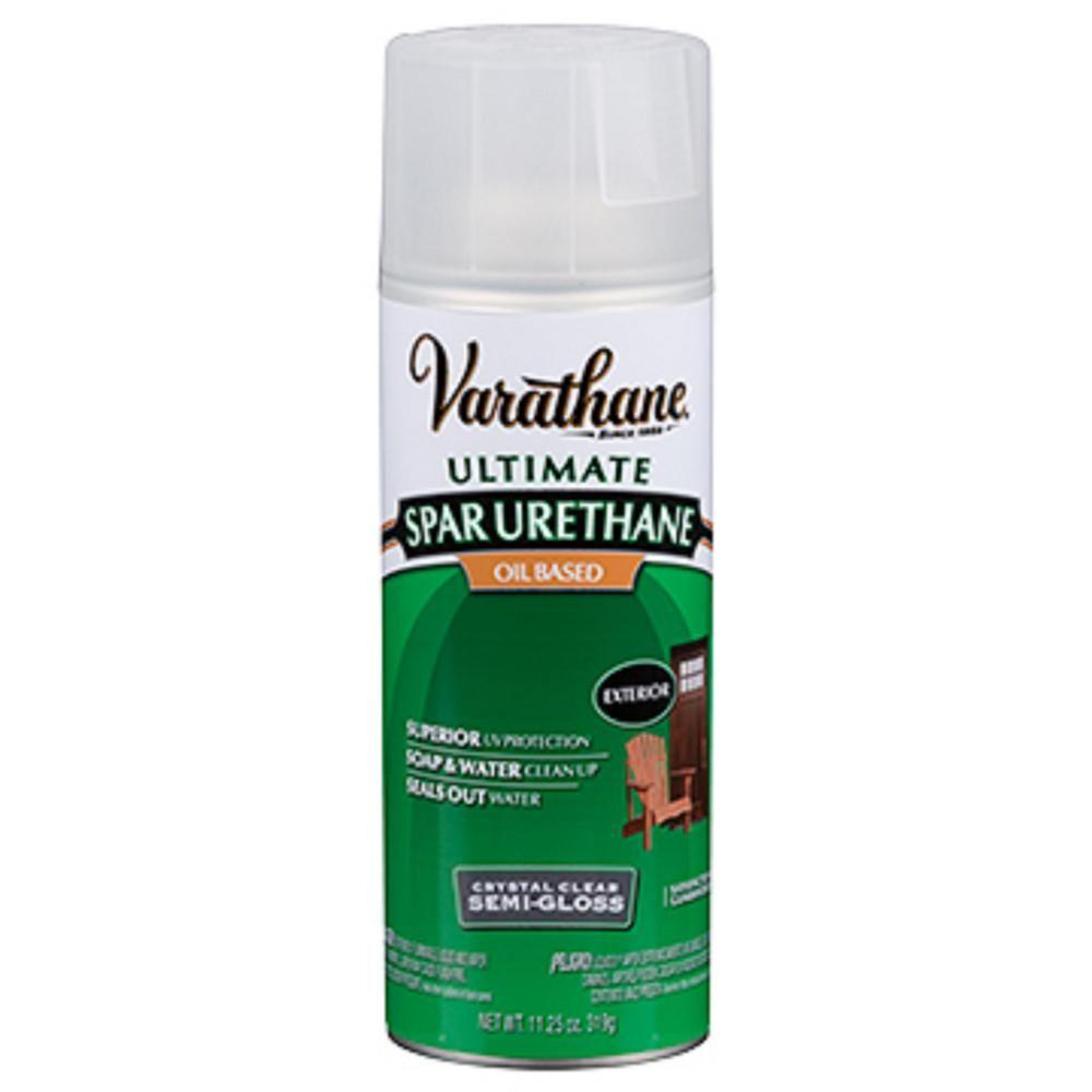 Varathane 11 Oz Clear Semi Gloss Oil Based Spar Urethane Spray 6 Pack Outdoor Wood Projects Aerosol Spray Paint Gloss Spray Paint