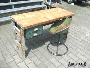 Alter Küchentisch ~ Schreibtisch im industriedesign alter tisch werkbank metall