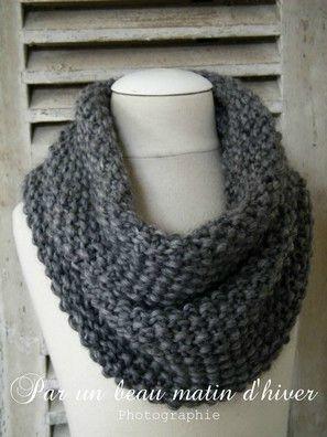 tricoter une echarpe monter les mailles