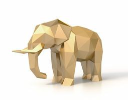 Low Poly Elephant 3D Model