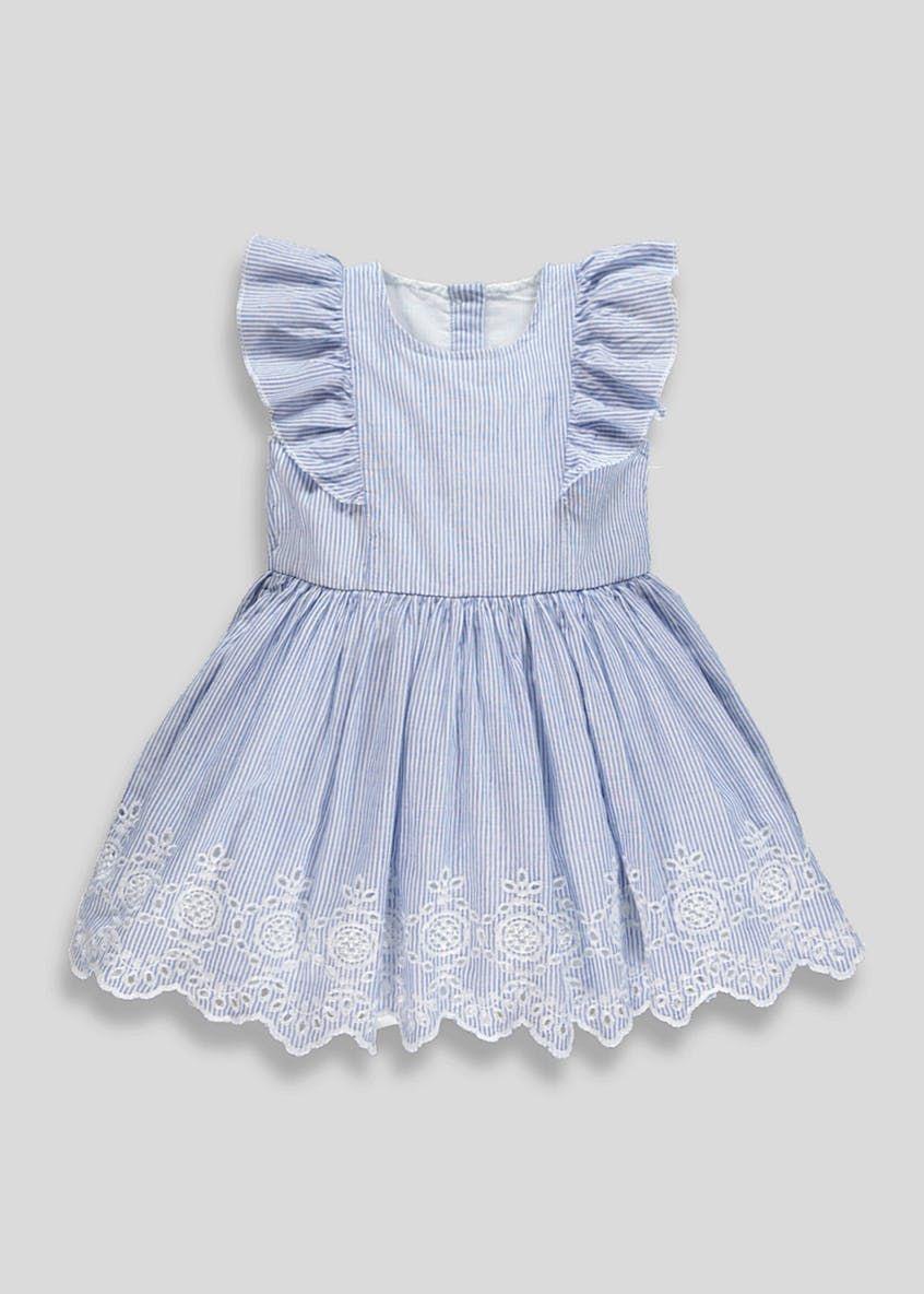 30b055cb0cded Girls Broderie Anglaise Frill Dress (9mths-6yrs) – Blue | My little ...