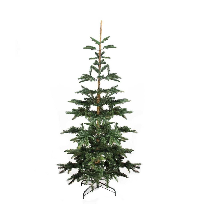 9 Green Slim Layered Noble Fir Artificial Christmas Tree Unlit Walmart Com Artificial Christmas Tree Noble Fir Christmas Tree Fir Christmas Tree