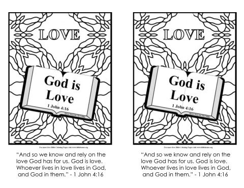 Check The Verse 1 John 4 16 Coloring Page Love Coloring Pages