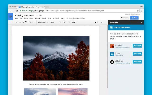 WordPress.com para Google Docs plugin que facilita la publicación de documentos