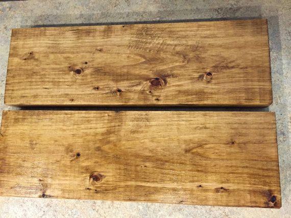 Golden Oak 5.5 Depth shelves Handcrafted Rustic