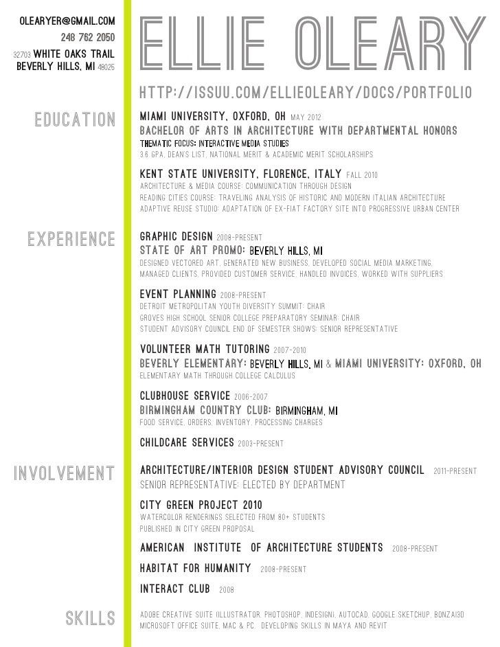 intern-architect-resume-quotes-1005822jpeg (728×942) resume - font for a resume
